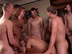 Watch And Enjoy Dudes` Bukkake Feast 2